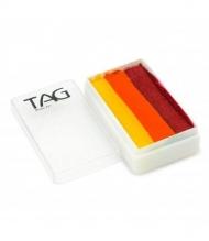 Профессиональный гипоаллергенный аквагрим Сплит-кейк TAG «Огонь», 30г, 3 цвета