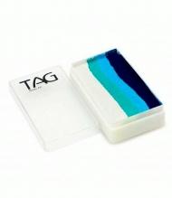 Профессиональный гипоаллергенный аквагрим Сплит-кейк TAG «Океан», 30г, 4 цвета