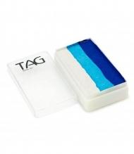 Профессиональный гипоаллергенный аквагрим Сплит-кейк TAG «Синяя птица», 30г, 3 цвета