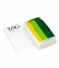 Профессиональный гипоаллергенный аквагрим Сплит-кейк TAG «Желтые листья», 30г, 3 цвета