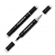 Маркер-блендер (размывка) Artisticks Brush 102, 2 наконечника: кисть+скошенный