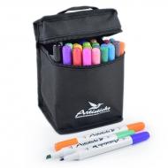 Набор художественных маркеров на водной основе Artisticks AQUA 201 Bag, 24 цвета, двусторонние, 1-6мм