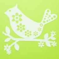 Трафарет-силуэт Marabu Птица с цветами 15х15 см