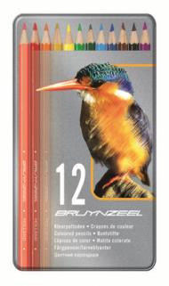 Набор цветных карандашей Bruynzeel Kingfisher 12 цветов металлический пенал