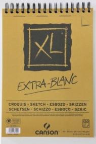 Альбом для пастели и угля Canson Xl 90г/кв.м 21*29.7см 120листов Экстра белая спираль по короткой стороне