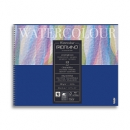 Альбом для акварели Fabriano Watercolour Studio 300г/кв.м (25%хлопок) 32x41см Фин 12л спираль по короткой стороне