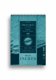 Альбом для пастели Fabriano Ingres Limited Edition 90г/м.кв 21x29,7см синяя бумага 60л спираль по короткой стороне