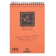 Альбом для графики Canson Xl 90г/кв.м 14.8*21см 60листов Слоновая кость спираль по короткой стороне