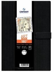 Блокнот для зарисовок Canson 180° 96г/кв.м 21.6*27.9см 80листов твердая обложка магнитная застежка черный