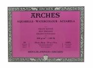 Блок для акварели Arches 300г/кв.м (хлопок) 26*36см 20л Сатин, склейка