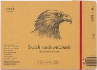 Альбом SM-LT Art Authentic Kraft 90г/м2 24.5х17.8см 24 листа с закладкой-застежкой книжный переплет (сшитый)