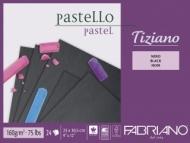 Альбом для пастели Fabriano Tiziano 160г/м.кв 23x30,5см черные листы 24л склейка по 1 стороне
