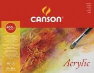 Альбом для акрила Canson 400г/кв.м 32*41см 50листов Фин склейка по длинной стороне