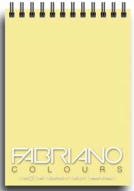 Блокнот для зарисовок Fabriano Colours 80г/м.кв 10,5x14,8см Желтый 100л спираль по короткой стороне