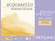 Блок для акварели Fabriano Artistico Extra White 300г, хлопок, 23x30,5см, Фин 20л