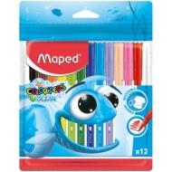 """Фломастеры Maped """"Color Peps Ocean"""", 12цв., смываемые, ПВХ, европодвес"""