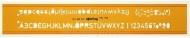 Буквенный трафарет Н-профиля, высота надписи 3.0 мм