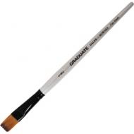Кисть Daler Rowney Graduate синтетика, плоская, короткая ручка