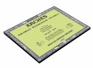 Блок для акварели Arches 185г/кв.м (хлопок) 31*41см 20листов Фин склейка по 4 сторонам