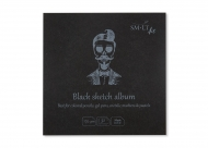 Альбом SM-LT Art Layflat Black 170г/м2 14х14 см 32л черная бумага сшитый