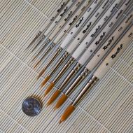 Кисти круглые синтетика ROUBLOFF, короткая ручка