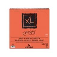 Альбом для графики Canson Xl 90г/кв.м 30*30см 120листов Слоновая кость спираль по короткой стороне
