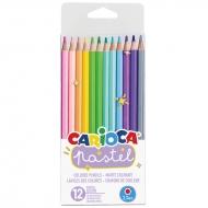 """Карандаши цветные Carioca """"Pastel"""", 12 цветов"""