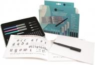 Набор Manuscript Calligraphy Compendium 5 (4 ручки, 5 перьев, 18 картриджей, конвертер и руководство) в пенале