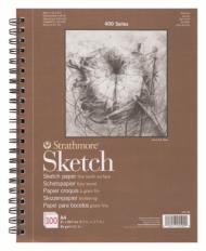 Альбом для зарисовок Strathmore 400 Series Sketch 89г/кв.м, 21х29,7см, 100л