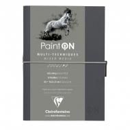 """Скетчбук для смешанных техник Clairefontaine """"Paint'ON"""", 32л., А5, на сшивке, 250г/м2, легкое зерно"""