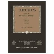 Блок для графики Arches Traditionnel 200г, 26*36см 16л, Среднее зерно, склейка