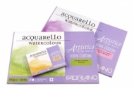 Альбом для акварели Fabriano Artistico Extra White 300г/кв.м (хлопок) 26x36см Фин 12л спираль по короткой стороне