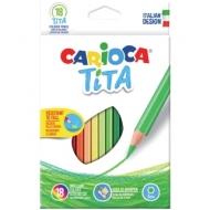 """Карандаши пластиковые Carioca """"Tita"""", 18цв., заточен., картон, европодвес"""