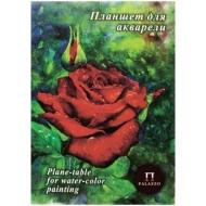 """Планшет для акварели 20л. А4 Лилия Холдинг """"Алая роза"""", 200г/м2, """"Скорлупа"""""""