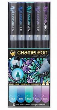 Набор художественных маркеров Chameleon Cool Tones, холодные тона, 5 шт