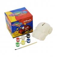 Набор для детского творчества «Машинка-копилка» Colorino для раскрашивания