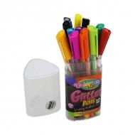 Набор цветных гелевых ручек с блестками Glitter Colorino, 12 цветов