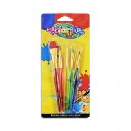 Набор кистей для рисования акриловыми красками Colorino, 5 штук