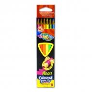 Набор трехгранных цветных карандашей Colorino Kids Neon, 6 неоновых цветов
