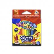 Цветные трехгранные детские мини-карандаши Colorino Jumbo mini, 8.9 см, 12 цветов