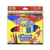 Набор детских трехгранных карандашей для рисования Colorino, 24 цвета