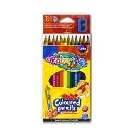 Набор цветных карандашей с точилкой Colorino, 12 цветов, трехгранные