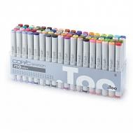 Набор маркеров для скетчей Copic Sketch D с супер-кистью, 72 цвета