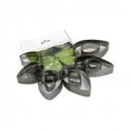 Каттеры для полимерной глины «Лепестки и листья (Капли)» Fiorico, набор для вырезания, 11 шт
