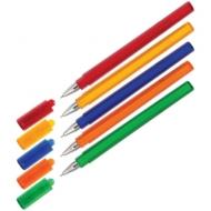 """Ручка шариковая Союз """"Tetra"""" синяя, 0,7мм, трехгранн., тонированный корпус ассорти"""