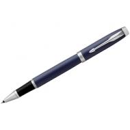 "Ручка-роллер Parker ""IM Matte Blue CT"" черная, 0,8мм, подар. уп."