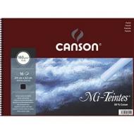 Альбом для пастели Canson Mi-Teintes 160г/кв.м 24*32см 16листов №425 черный спираль
