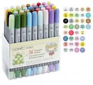 Набор маркеров COPIC CIAO Brilliant Colours, двусторонние с кистью, 36 цветов