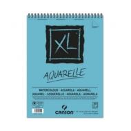 Альбом для акварели, гуаши, акрила Canson Xl 300г/кв.м (целлюлоза) 21*29.7см 30листов Фин спираль по короткой стороне