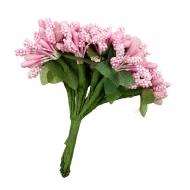 """Декоративные элементы """"Веточки с цветами"""" Mr.Painter, розовый, 12 шт."""